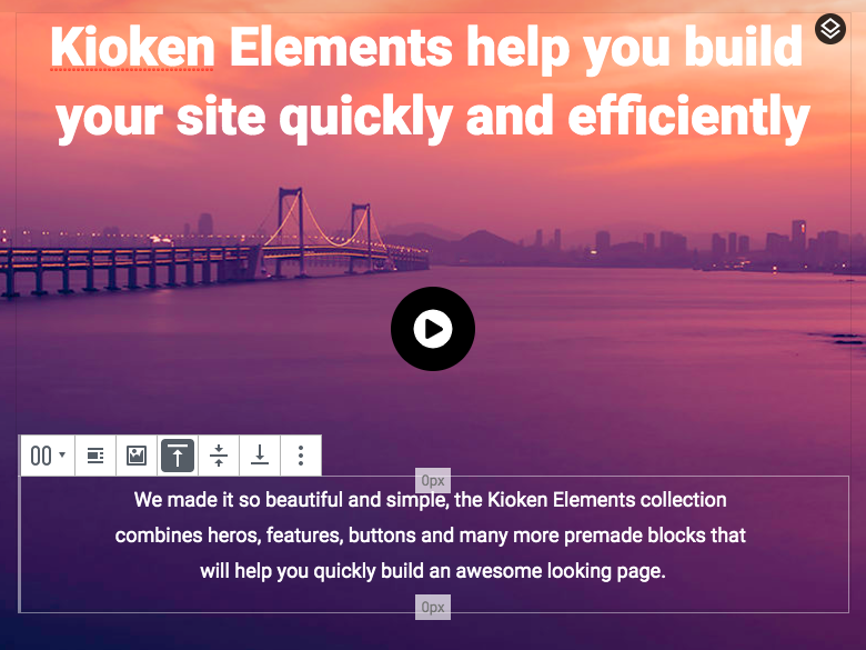 The Kioken Blocks darker background selected block highlighter.
